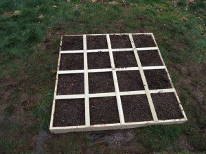 Sustainable Craig Square Foot Garden Frame with soil