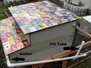 aluminum roof chicken coop