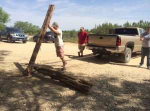 "Craig using a ""Flip Flop Winch"" to move a truck"