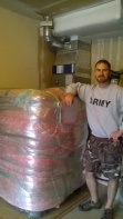 Craig with new fish tank - insulated IBC