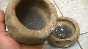craig finished fired pots with cracks