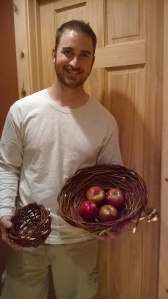 Craig with baskets