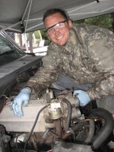 Craig with engine