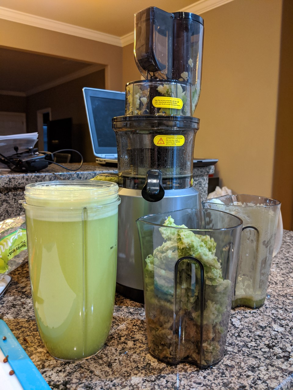 sustainablecraig green apple juice and juicer