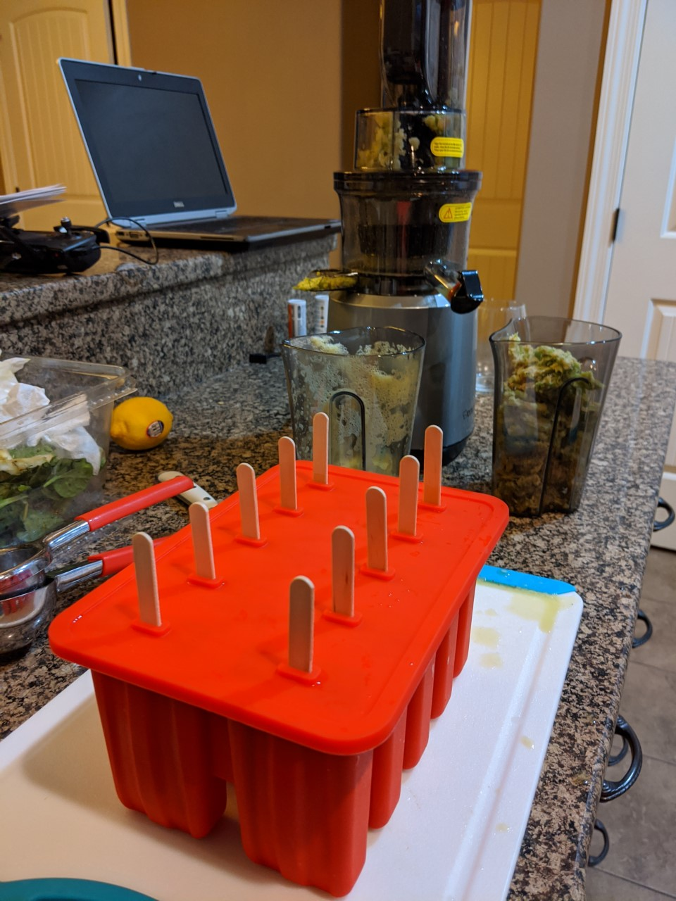 sustainablecraig popsicle mold with green apple juice 2