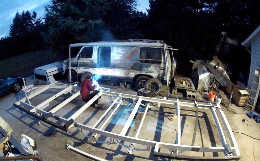 jeff welding the frame
